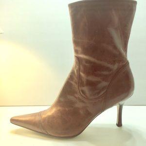 Ladies Mid-Calf Boots, Nine West, Brown, 9.5M